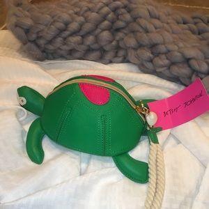 Betsy Johnson Wristlet Turtle Green